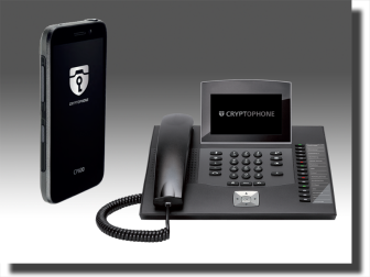 CryptoPhone secure mobile phone and secure desktop IP phone